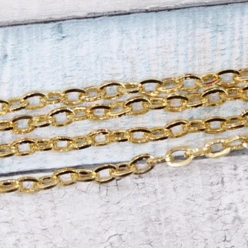K24 שרשרת מתכת 4/6 שטוחה ציפוי זהב