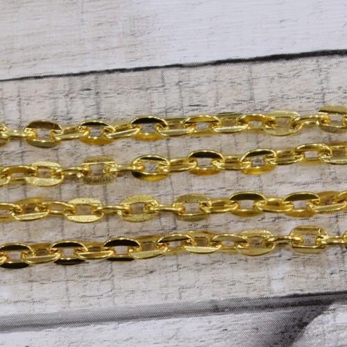 שרשרת מתכת 3/2 זהב