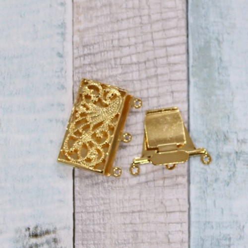 """סוגר קופסא מלבני 23 מ""""מ זהב"""