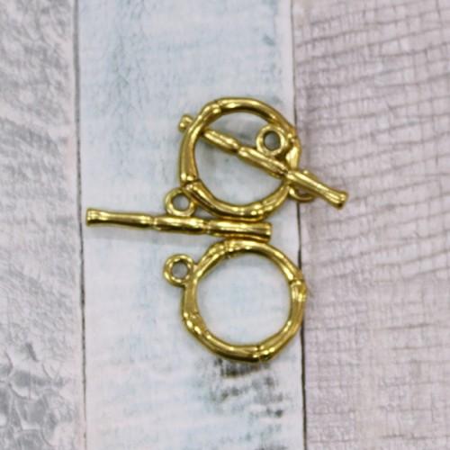 סוגר T מעוצב זהב עתיק