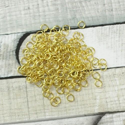 """חוליות מתכת 5 מ""""מ זהב"""