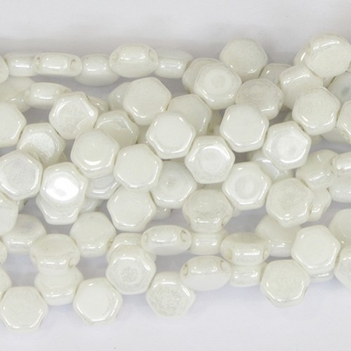 6mm honeycomb white luster