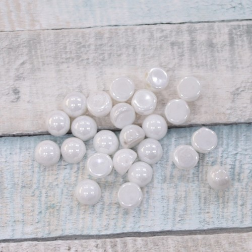 Cabochon Luster Opaque White