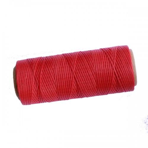 חוט פוליאסטר מצופה שעווה  אדום